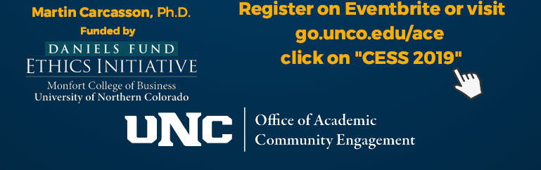 "VIsit go.unco.edu/ace and click on ""CESS 2019"""