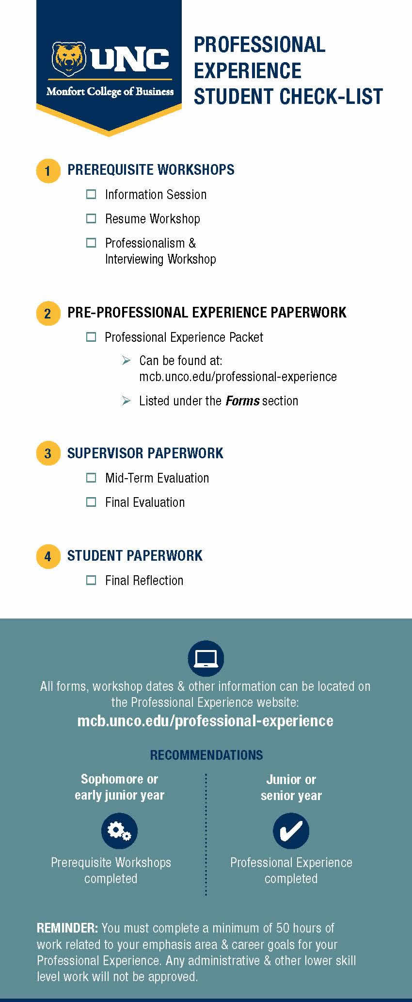 professional experience leads to future success
